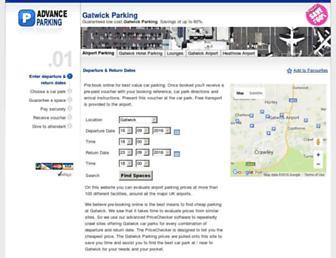 Main page screenshot of cheap-parking.net