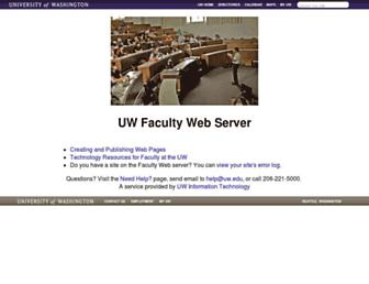 Main page screenshot of faculty.washington.edu