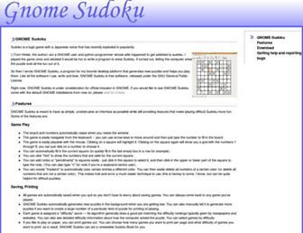 gnome-sudoku.sourceforge.net screenshot