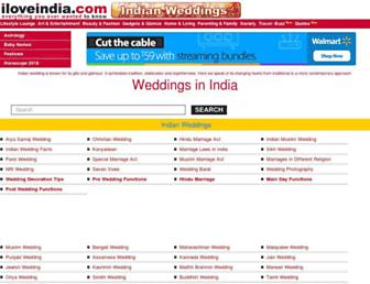 weddings.iloveindia.com screenshot