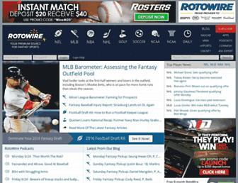 rotowire.com screenshot
