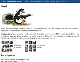 linux-hardware.org screenshot