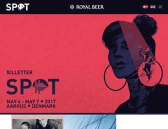 Main page screenshot of spotfestival.dk