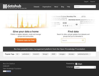 datahub.io screenshot