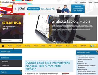 Main page screenshot of grafika.cz
