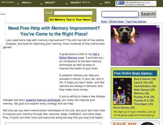 memory-improvement-tips.com screenshot