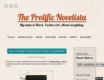 prolificnovelista.com screenshot