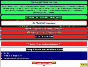 shubhsattamatka.com screenshot
