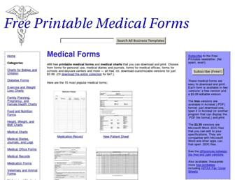 freeprintablemedicalforms.com screenshot