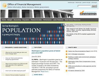 ofm.wa.gov screenshot
