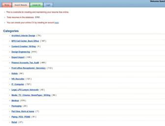 resumecvindia.com screenshot