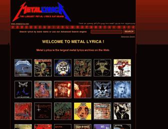 metallyrica.com screenshot