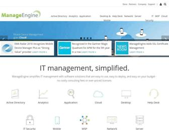 manageengine.com screenshot