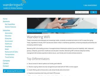 Thumbshot of Wanderingwifi.com