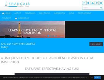 francaisimmersion.com screenshot