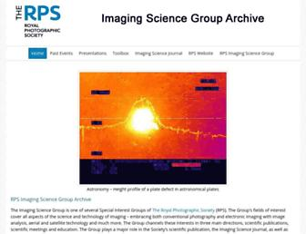 Main page screenshot of rps-isg.org