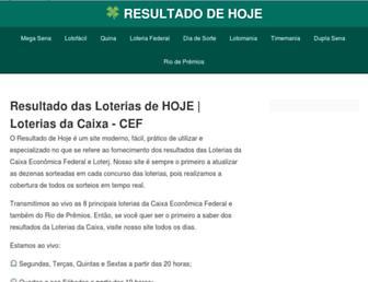 resultadodehoje.com screenshot