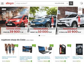 Main page screenshot of allegro.pl