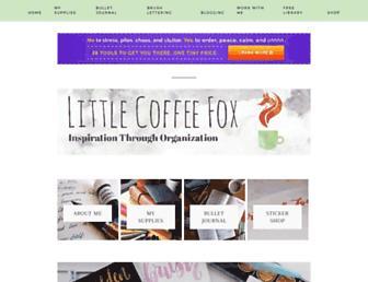 littlecoffeefox.com screenshot
