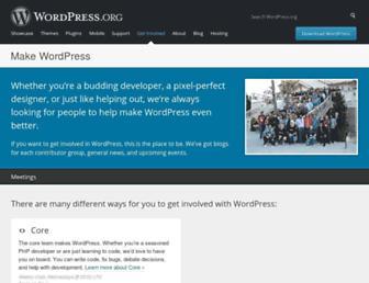 make.wordpress.org screenshot