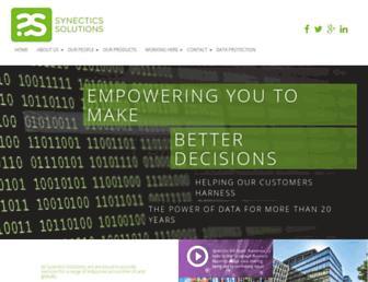 synectics-solutions.com screenshot