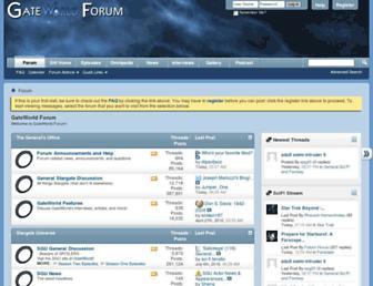 Main page screenshot of forum.gateworld.net
