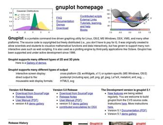 Thumbshot of Gnuplot.info