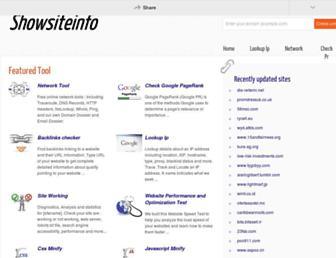 showsiteinfo.us screenshot