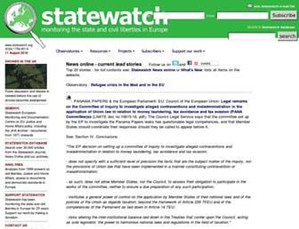 statewatch.org screenshot