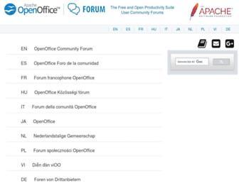 forum-test.openoffice.org screenshot