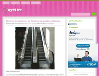 Main page screenshot of agridulce.com.mx