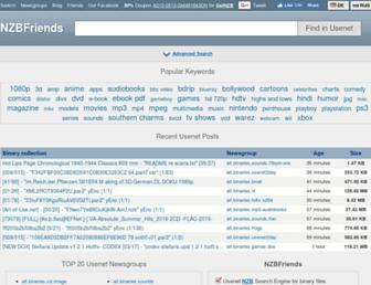 nzbfriends.com screenshot
