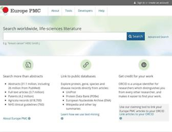 europepmc.org screenshot
