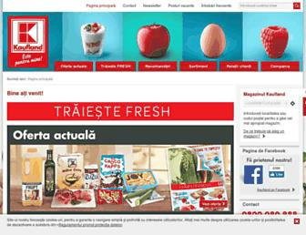 Main page screenshot of kaufland.ro