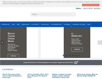 Main page screenshot of carrefour.es