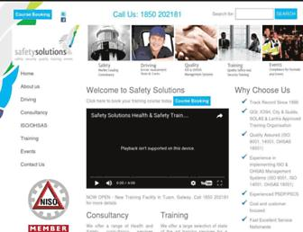 safetysolutions.ie screenshot