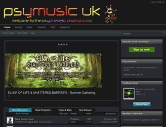 Main page screenshot of psymusic.co.uk