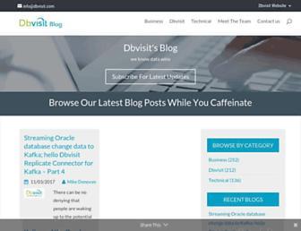 blog.dbvisit.com screenshot