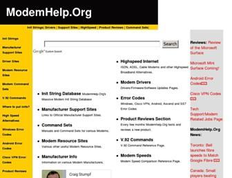 modemhelp.org screenshot