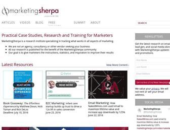Thumbshot of Marketingsherpa.com