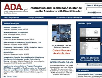 ada.gov screenshot