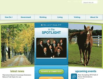 Main page screenshot of fauquiercounty.gov