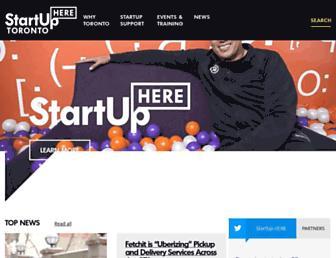 startupheretoronto.com screenshot