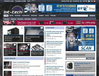 Main page screenshot of bit-tech.net