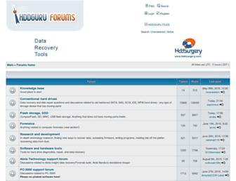 forum.hddguru.com screenshot