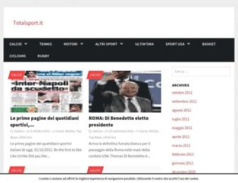 Main page screenshot of totalsport.it