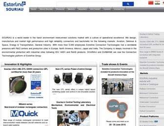 souriau.com screenshot