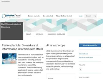 bmcmusculoskeletdisord.biomedcentral.com screenshot