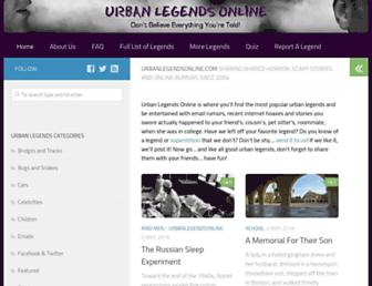 urbanlegendsonline.com screenshot
