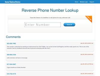 Thumbshot of Reversetelephonedirectoryinfo.com